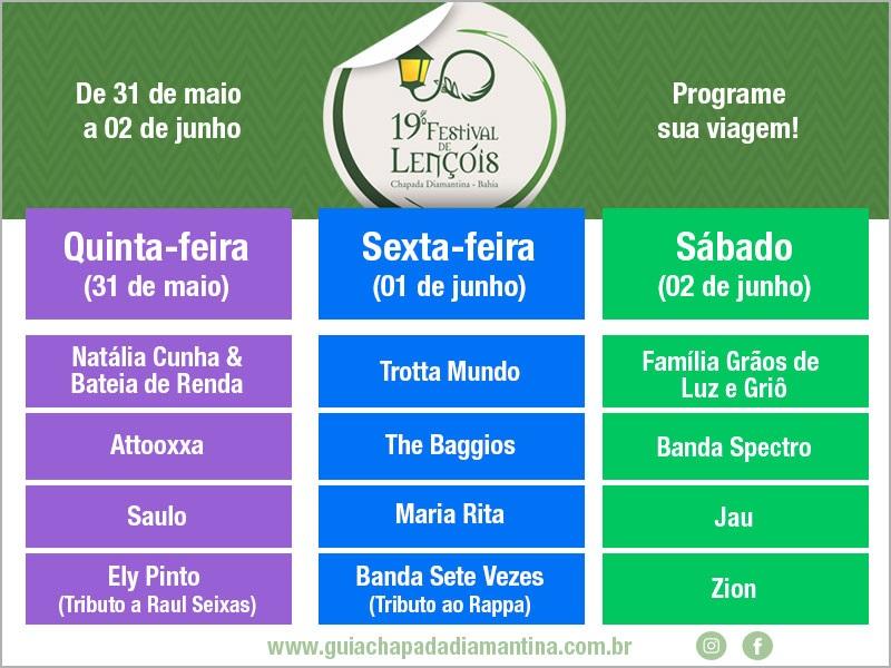 Festival de Lencois (foto http://www.guiachapadadiamantina.com.br/festival-de-lencois-2018/)