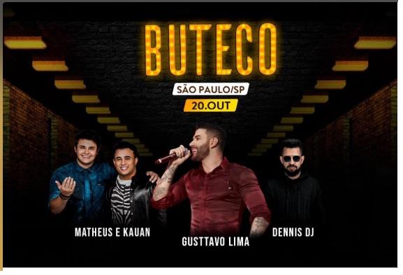 Buteco Gustavo Lima 2019 (https://www.ingressorapido.com.br/event/31915-1/d/62720)