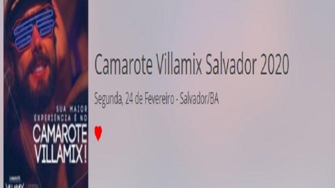 Camarote Villamix Salvador 24 de fevereiro