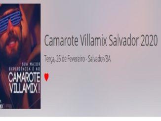 Camarote Villamix Salvador 2020 - 25 de fevereiro