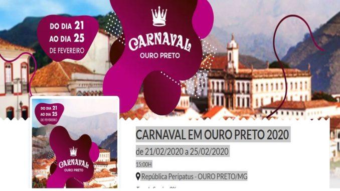 Carnaval em Ouro Preto 2020