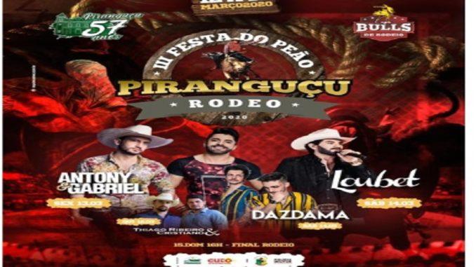 Festa do Peão Piranguçu Rodeo 2020