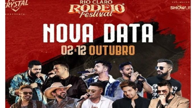 Rio Claro Rodeo Show 2020 - data alterada